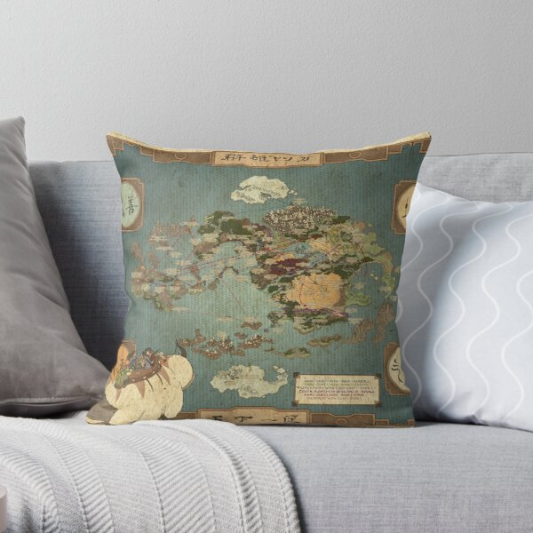 Avatar the Last Airbender Map Throw Pillow