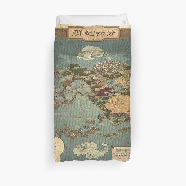 Avatar die letzte Airbender Map Bettbezug