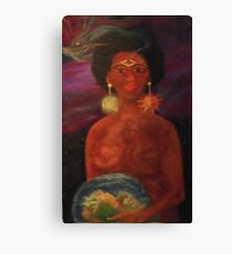 """""""Mother Earth, Queen Universe """" Canvas Print"""