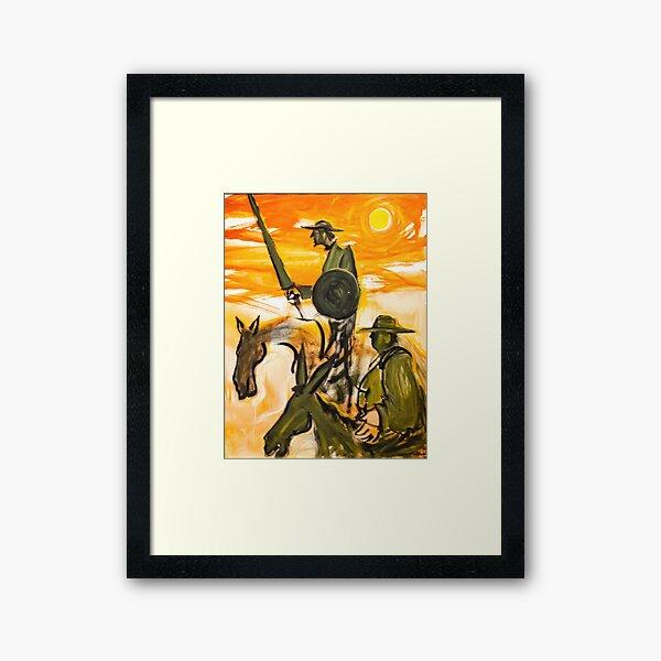 Caballo de pintura de cervantes - don quijote Lámina enmarcada