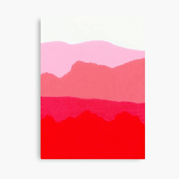 Pink layers  Canvas Print