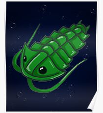 Green Trilobite Poster