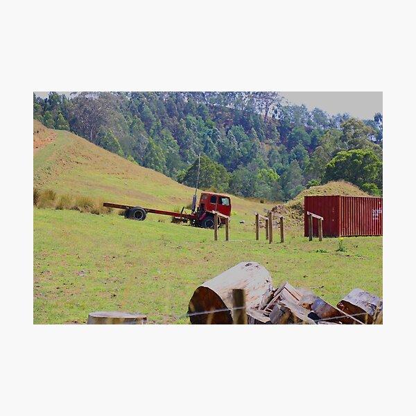 Rustic truck  Photographic Print