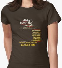 The Fugitive - Alright Listen Up People... Womens Fitted T-Shirt