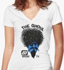 The Ghoul Channel 61 Repro Shirt Women's Fitted V-Neck T-Shirt