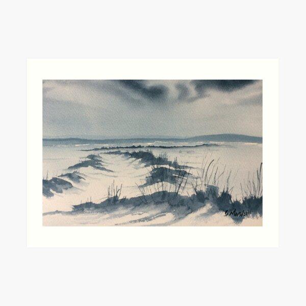 Winter Light over Lastingham Rigg Art Print