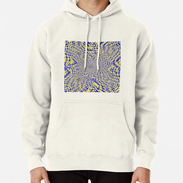 Rhombus, Squares, Op art, short for optical art, is a style of visual art that uses optical illusions Pullover Hoodie