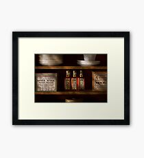 Pharmacy - For all your lubrication needs Framed Print