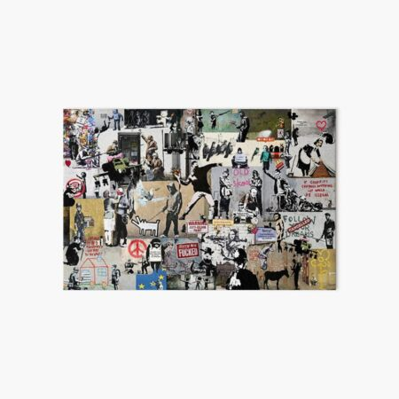 Banksy Collage Art Board Print