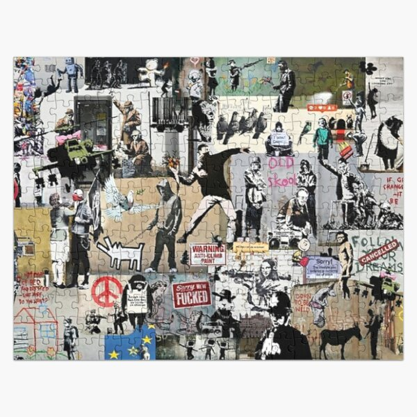 Banksy Collage Jigsaw Puzzle