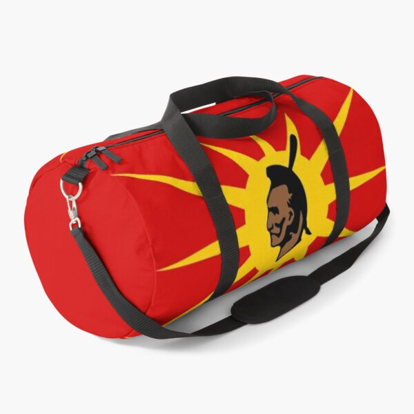 Mohawk Warrior Flag Iroquois Canada and USA yellow and red background HD High Quality Duffle Bag