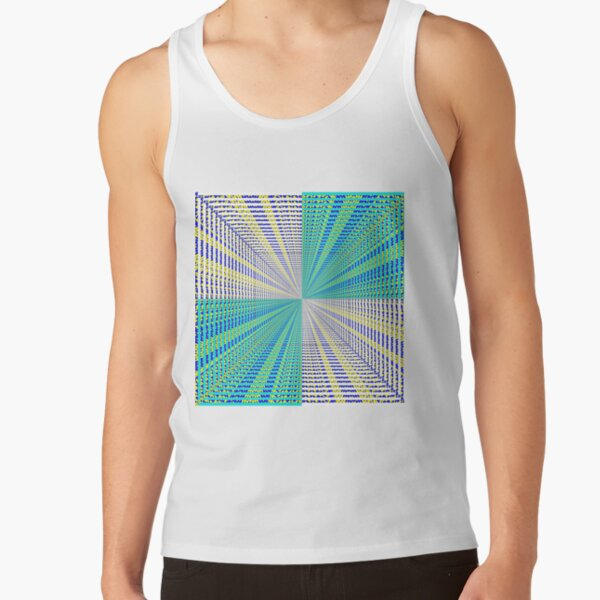 Rhombus, Squares, Op art, short for optical art, is a style of visual art that uses optical illusions Tank Top