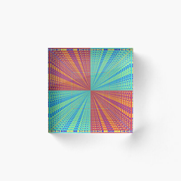 Rhombus, Squares, Op art, short for optical art, is a style of visual art that uses optical illusions Acrylic Block