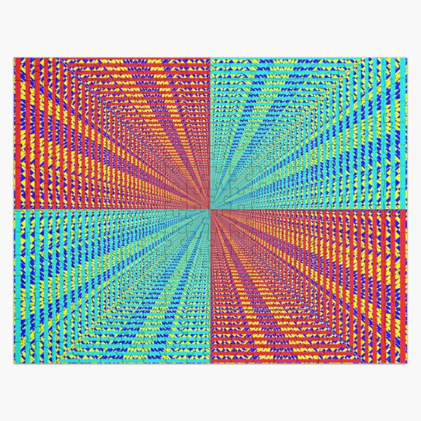Rhombus, Squares, Op art, short for optical art, is a style of visual art that uses optical illusions Jigsaw Puzzle
