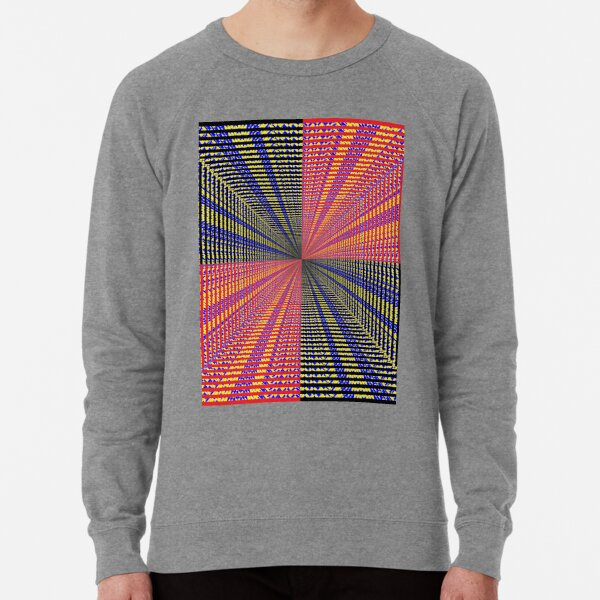 Rhombus, Squares, Op art, short for optical art, is a style of visual art that uses optical illusions Lightweight Sweatshirt