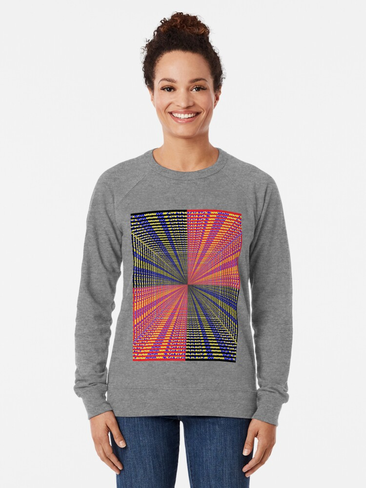 Alternate view of Rhombus, Squares, Op art, short for optical art, is a style of visual art that uses optical illusions Lightweight Sweatshirt