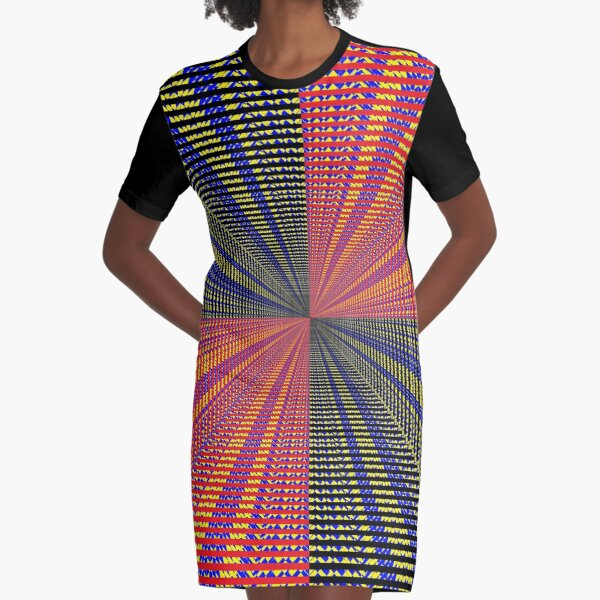 Rhombus, Squares, Op art, short for optical art, is a style of visual art that uses optical illusions Graphic T-Shirt Dress