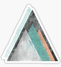 Aqua und Coral Mountains Sticker