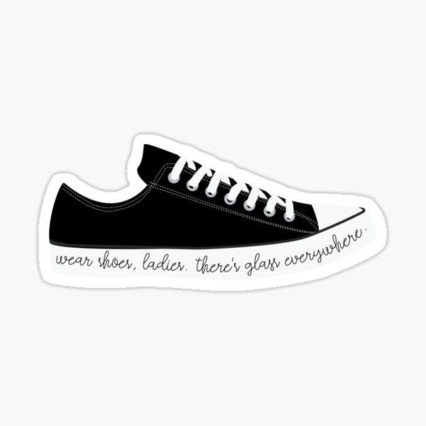 Black Converse Chucks Glass Everywhere Sticker