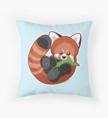 Cute Red Panda Throw Pillow