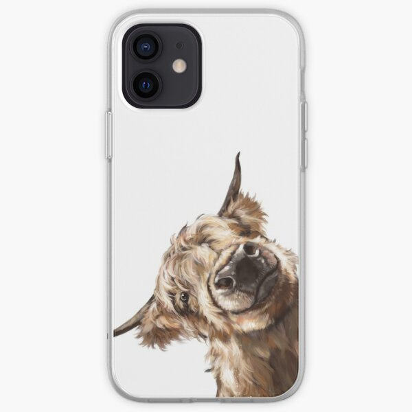 Sneaky Highland Cow iPhone Soft Case