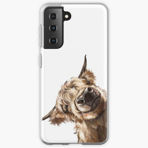 Sneaky Highland Cow Samsung Galaxy Soft Case