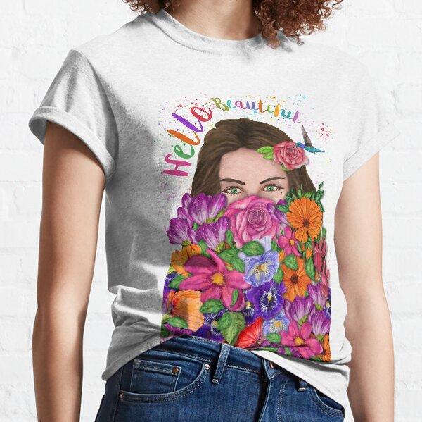 Hello Beautiful Floral Bouquet Classic T-Shirt