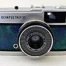 Olympus Trip 35 in Turquoise Snakeskin by Tripman