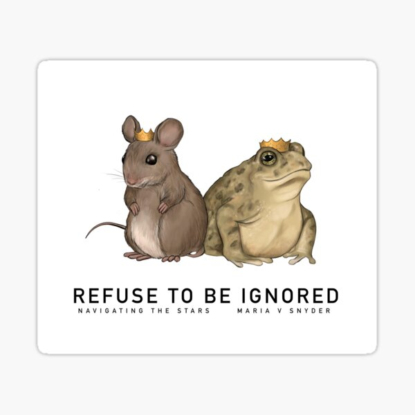 Refuse to be Ignored Sticker