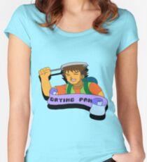 Trusty frying pan... Women's Fitted Scoop T-Shirt