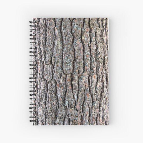 White Pine Tree Bark Spiral Notebook