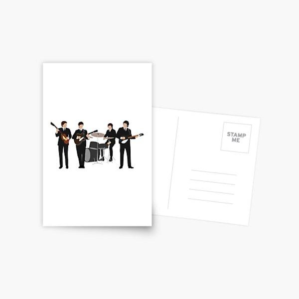 Beatle Vintage Line Up Postcard