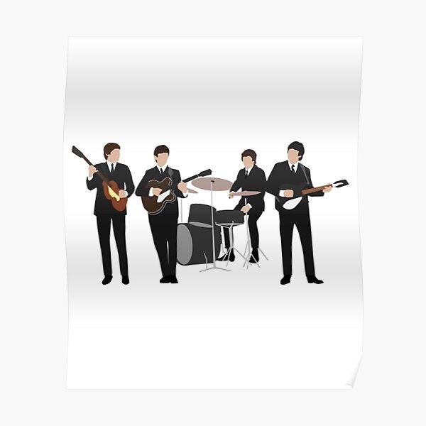 Beatle Vintage Line Up Poster