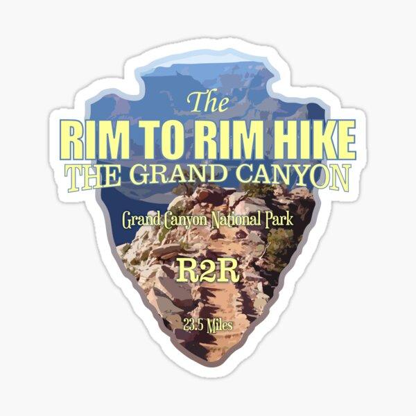 Sentier Rim to Rim (pointe de flèche) Sticker