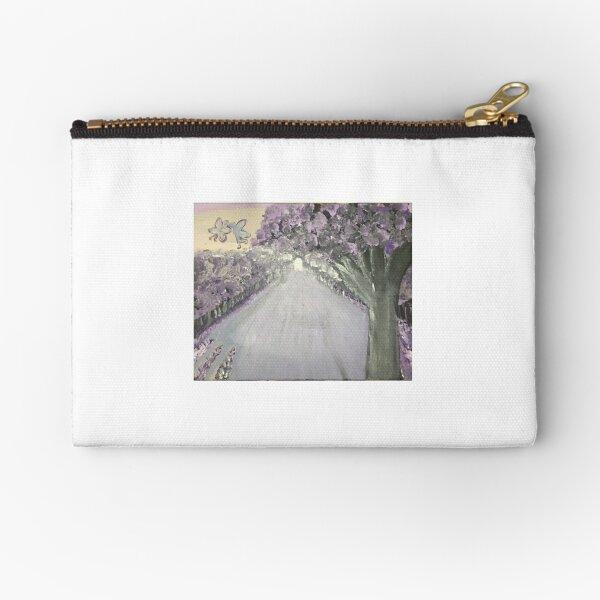Purple Road Zipper Pouch