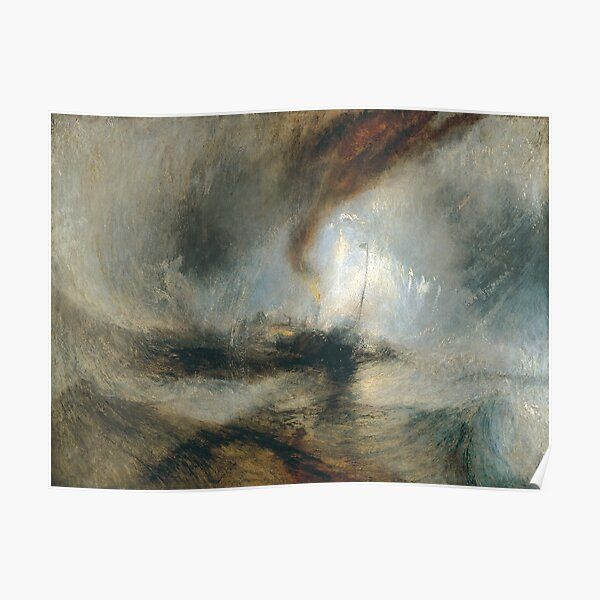 J. M. W. Turner - Snow Storm: Steam-Boat off a Harbour's Mouth (1842) Poster