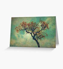 Vintage Rusty Tree Greeting Card