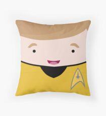 Captain James T Kirk Throw Pillow