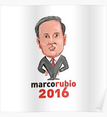Marco Rubio 2016 President Caricature Poster