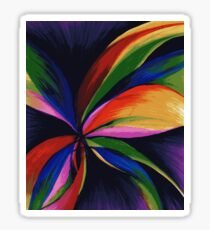 Paradise Colorful Rainbow Abstract Flower Art Sticker