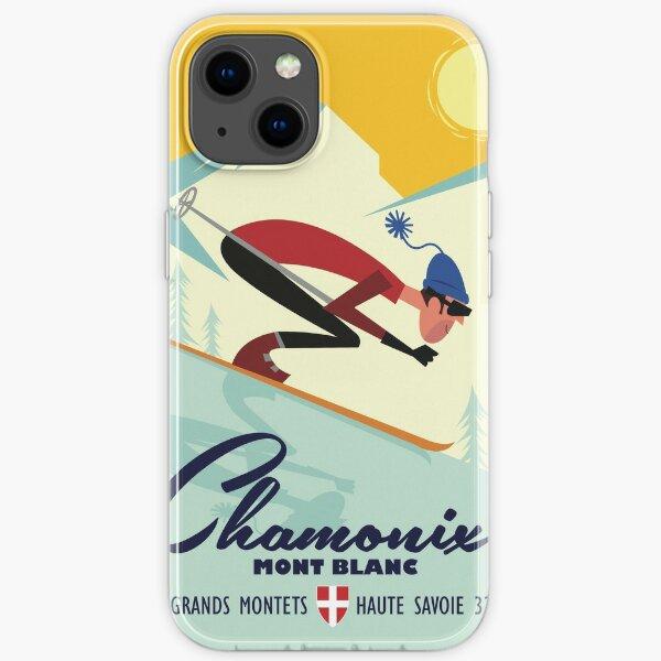Affiche de ski de Chamonix Coque souple iPhone