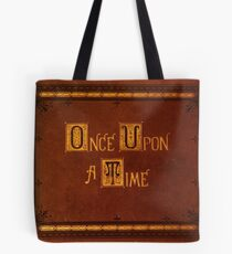 Once Upon A Time - Book Sticker Tote Bag