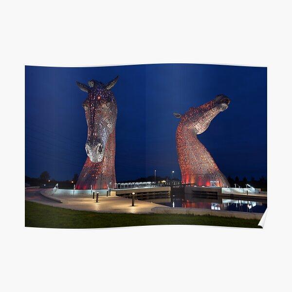 The Kelpies, Falkirk, Scotland Poster