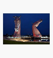 The Kelpies, Falkirk, Scotland Photographic Print