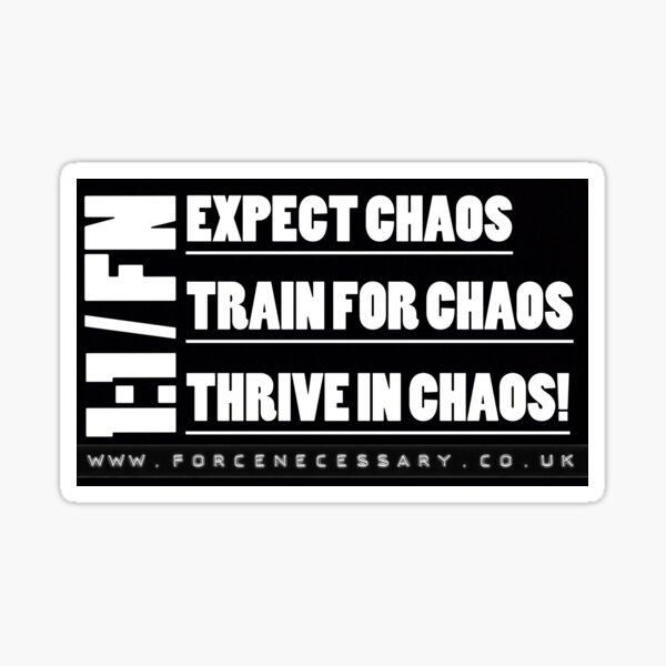 Thrive In Chaos Sticker