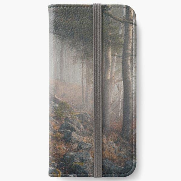Foggy forest landscape iPhone Wallet