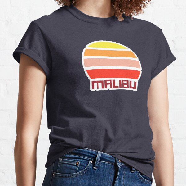 Retro Vintage Sunset Malibu California USA Souvenir Classic T-Shirt