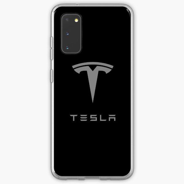 Grey Tesla Logo Samsung Galaxy Soft Case