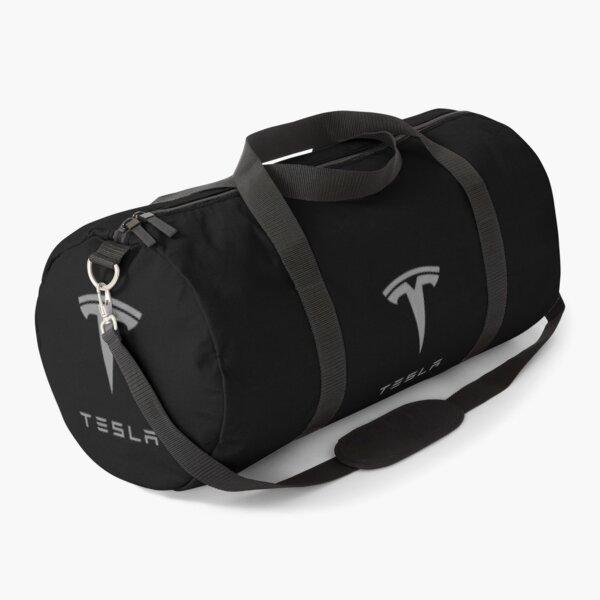 Grey Tesla Logo Duffle Bag