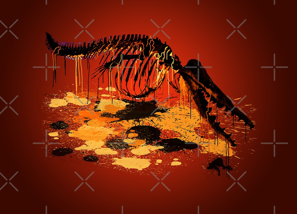Drip Dry DinoWhale by Chris Jackson
